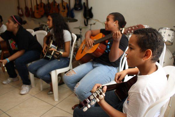 A guitar class at FEDUJAZZ | 2018